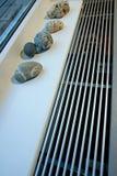 Fußbodenheizung und -dekorationen lizenzfreie stockfotografie