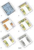 Fußbodenpläne des lebenden Hauses Stockbild