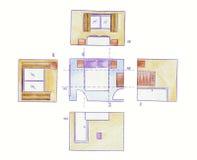 Fußbodenpläne und -erhebungen Lizenzfreies Stockfoto