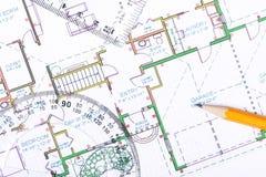 Fußbodenplan Stockfoto