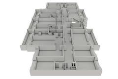 Fußbodenplanhaus Lizenzfreie Stockfotos