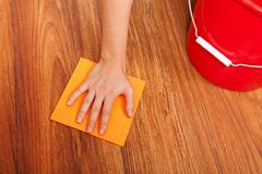 Fußbodenreinigung Stockbilder