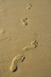 Fußdrucke Lizenzfreies Stockbild