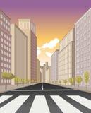 Fußgängerübergang auf der Straße Stockfoto