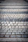 Fußgängerübergang auf einer Pflasterung Stockfotos