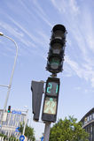 Fußgängerüberganglichter Stockfotos