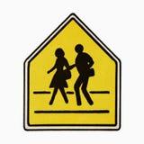 Fußgängerübergangzeichen. Stockbild