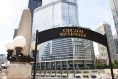 Fußgänger-Chicago-Ufergegend Stockfotografie