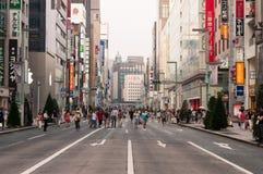 Fußgänger in Ginza, Japan Stockfoto