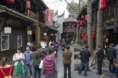 Fußgänger-Straße Chengdus Jinli Lizenzfreie Stockfotografie