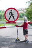 Fußgänger verboten Stockfotografie