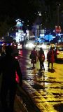 Fußgängeransicht nachts Lizenzfreies Stockbild
