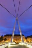 Fußgängerbrücke in Le Havre stockfotografie
