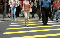 FußgängerCrosswalk Stockbild