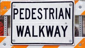 Fußgängergehweg Stockbild