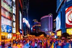 Fußgängermall Jiefangbei CBD lizenzfreie stockfotos