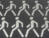 Fußgängermarkierung Lizenzfreies Stockfoto