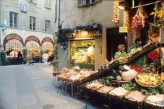 Fußgängerstraße in der Mitte von Lugano Lizenzfreie Stockfotografie