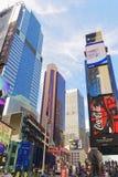 Fußgängerteil von Broadway und von 7. Allee auf Times Square Lizenzfreies Stockbild