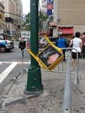 Fußgängerverkehrszeichen, NYC, NY, USA Stockfoto