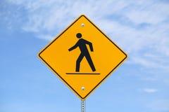 Fußgängerwarnzeichen Lizenzfreie Stockfotos
