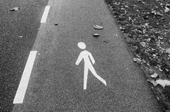 Fußgängerweg Stockfotografie