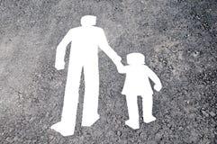 Fußgängerwegzeichen Stockfoto