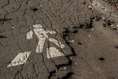 Fußgängerzeichen stockbild