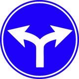 Fußgängerzeichen auf Asphaltmethode Stockbild