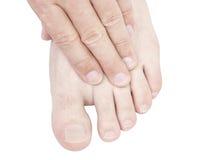 Fußmassage. Lizenzfreies Stockfoto