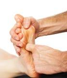 Fußmassage und Badekurortfußbehandlung lizenzfreies stockbild