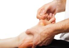 Fußmassage und Badekurortfußbehandlung lizenzfreies stockfoto