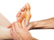 Fußmassage und Badekurortfußbehandlung stockfotos