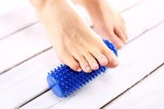 Fußmassage und -physiotherapie Stockbilder
