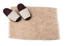 Fußmatte und Haushefterzufuhren Lizenzfreies Stockbild