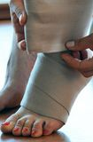 Fußtrauma Stockbild