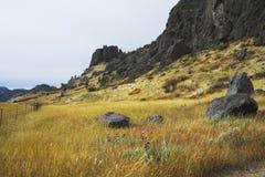 Fußweg auf flachen Hügeln von Missouri. Stockfoto