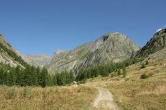 Fußweg in den Alpen, Frankreich stockfotografie