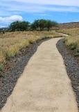 Fußweg an der hawaiischen historischen Stätte lizenzfreies stockfoto