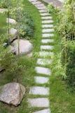 Fußweg im Garten Lizenzfreie Stockbilder