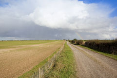 Fußweg mit Regenbogen Lizenzfreie Stockfotos