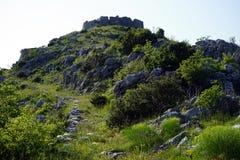 Fußweg zur Festung stockfotografie