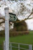 Fußwegen-Zeichen Stockfotografie