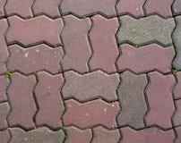 Fußwegenziegelsteinbeschaffenheit Stockbilder