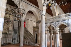 Fußwurzel/Mersin/die Türkei am 12. Juni 2019 Fußwurzel historische Ulu-cami Moschee stockbilder