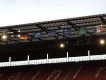 Fußball stadium lizenzfreie stockbilder