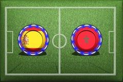 Fußball, WM 2018, laïus Gruppe B, Spanien - Marokko Illustration Stock