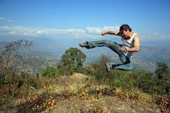 Fu chinês do kung Fotos de Stock