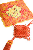 Fu and Chinese decorative knots Stock Photo