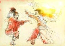 Fu de Kung Fotografía de archivo